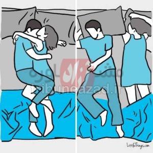 پوزیشن خوابیدن زناشویی تصویری – چگونه دو نفره بخوابیم؟ (5)